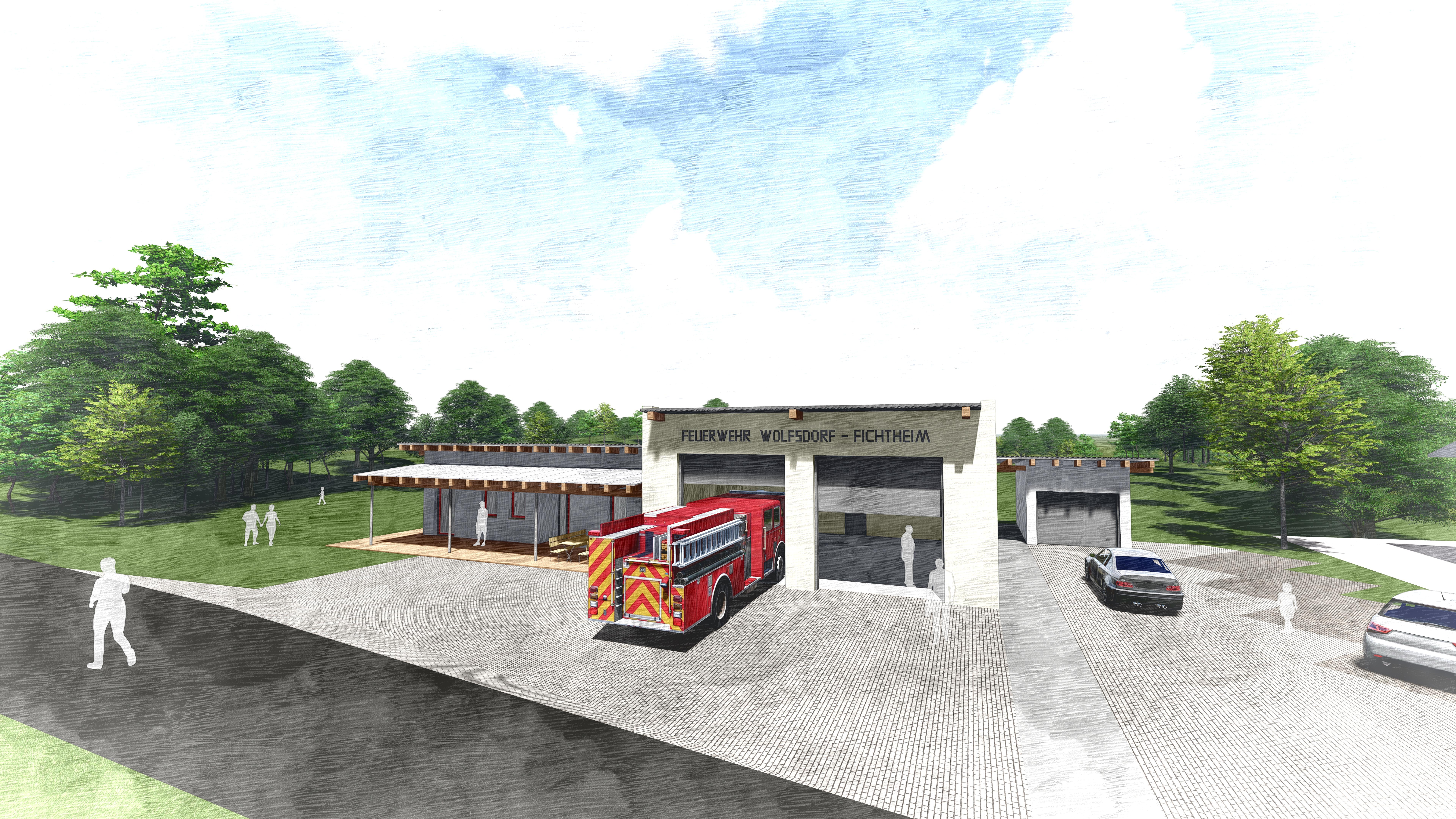 UPDATE: Neubau Feuerwehrhaus Fichtheim