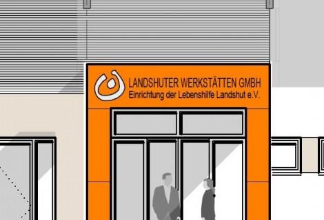 Baubeginn Neubau Landshuter Werkstätten Betrieb VII in Dingolfing