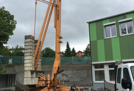Baubeginn Erweiterung Mensa Grund- und Mittelschule Landau