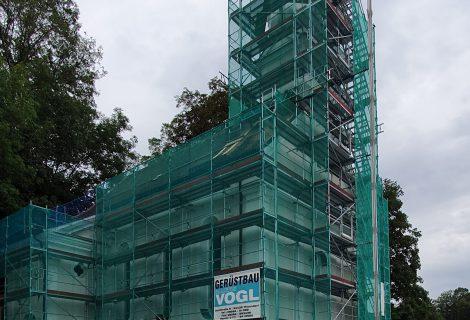 Baubeginn Sanierung Steinfelskirche Landau