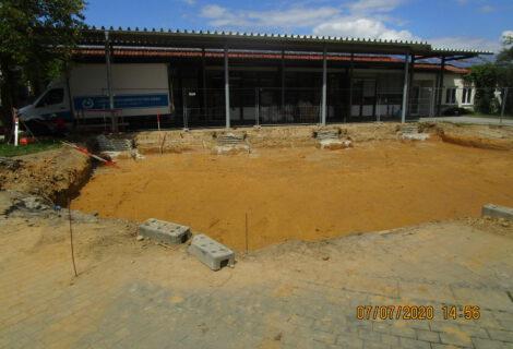Baubeginn Neubau Lagerhalle in Vilsbiburg