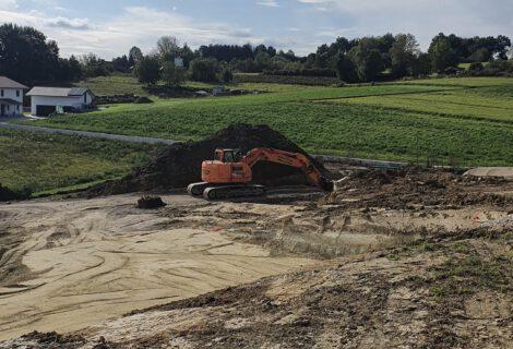 Baubeginn Wohnanlage in Moosthenning