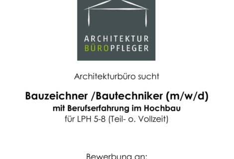 Wir suchen dich! Bauzeicher/ Bautechniker (m/w/d).